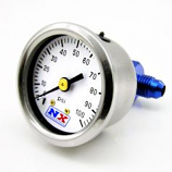 Nitrous Express 15512 Fuel Pressure Gauge 0-100 PSI With -4 Manifold